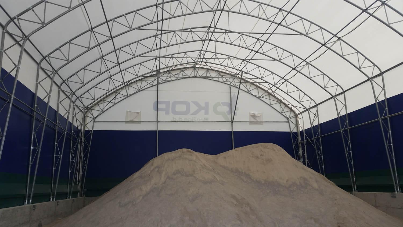 industrijski šotor TopTap notranjost
